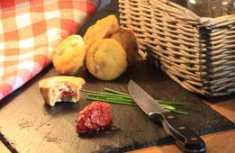Cake tomates séchées / Basilic