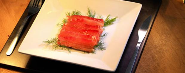Saumon mariné façon glamour