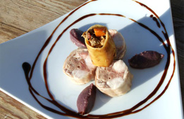Rable de lapin de Mr Dodin farçi au foie gras et compotée de chou rouge