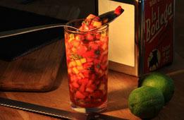 Salade fraîcheur de fraises et de pêches